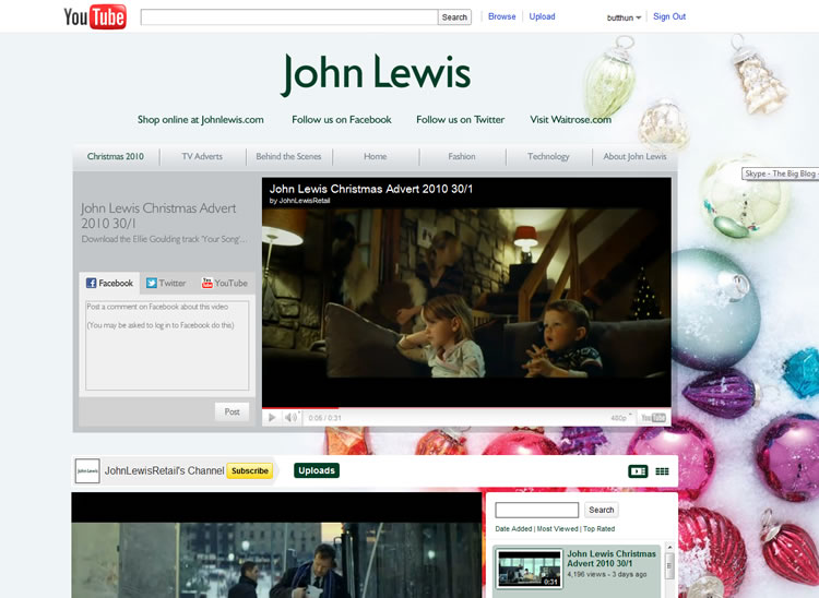 john lewis youtube channel